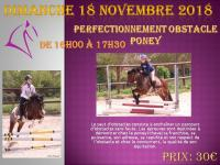 18 Novembre 2018 : Initiation éthologique / Perfectionnement obstacle poney / CSO Vernouillet