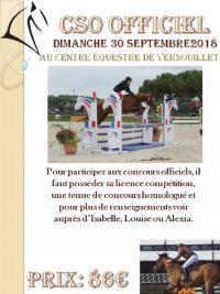 30 Septembre 2018 : CSO officiel Vernouillet/ Challenge équifun étape 1/ Monte libre/ Etho libre