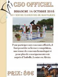 14 Octobre 2018 : CSO officiel Maffliers