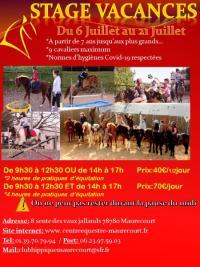 Stages vacances de Juillet au Centre équestre de Maurecourt (78)
